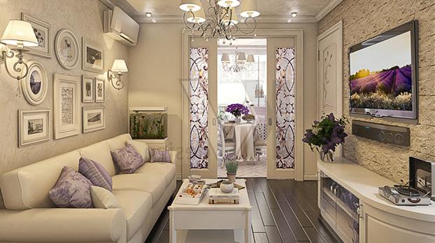 Пример французского интерьера в стиле прованс
