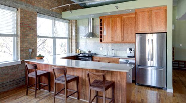 стиль лофт дизайн кухни