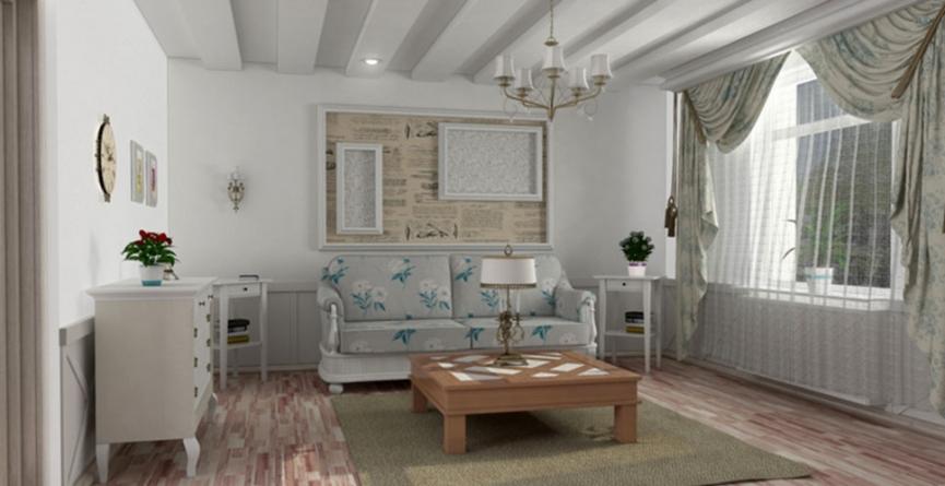 Интерьер квартиры в стиле прованс.