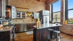 Дизайн кухни в стиле лофт.