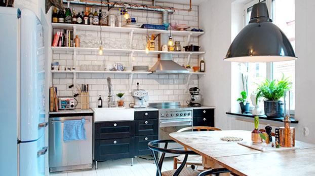 маленькая кухня дизайн лофт